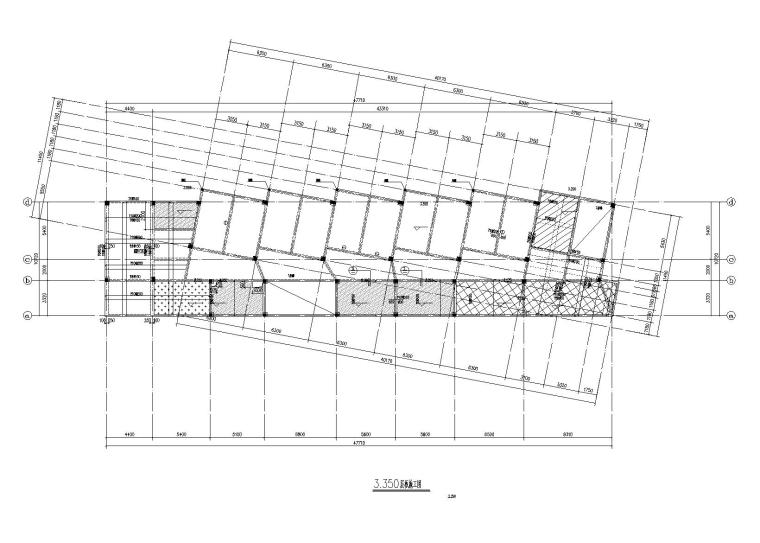 [绍兴]6层框架结构员工休息室建筑结构施工图(2014)
