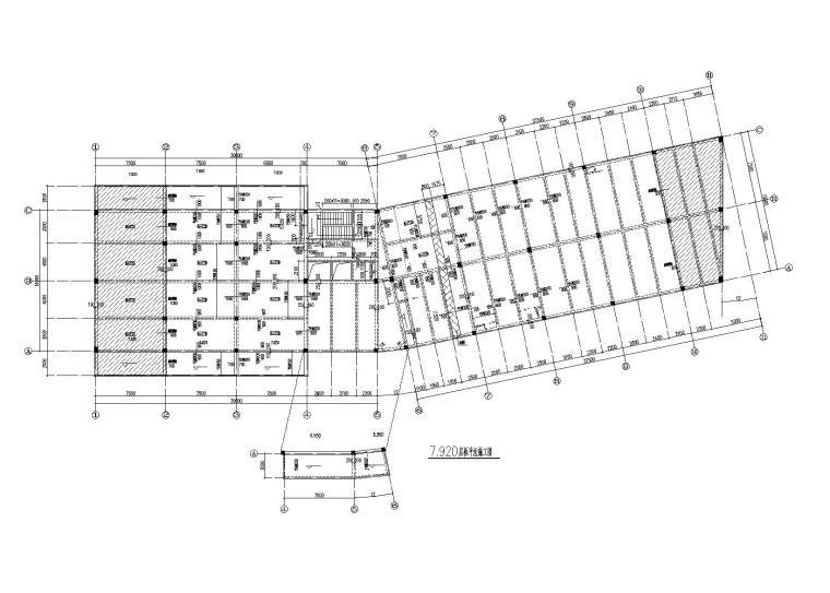 [绍兴]3层框架结构卡丁车楼建筑结构施工图(2014)