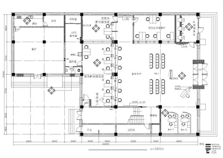[吉林]现代综合金融服务机构支行装修设计施工图(含电气及暖通图)