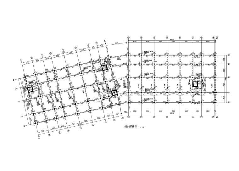 绍兴5层框架结构大看台建筑结构施工图2014