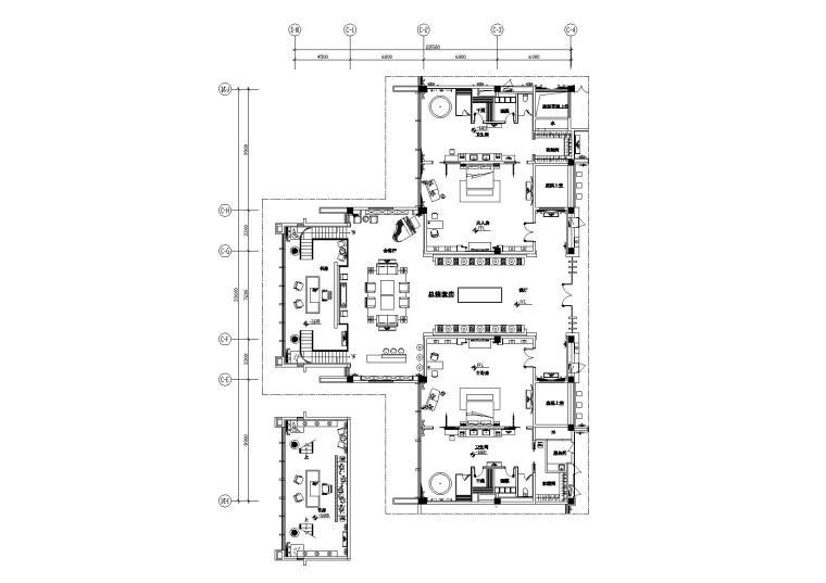 [江苏]国内一流中式风情五星级会议酒店客房装修施工图(含效果)