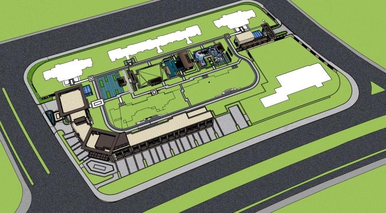 南京旭辉高端品质居住区SU模型(新中式su模型)含:方案文本,CAD施工图