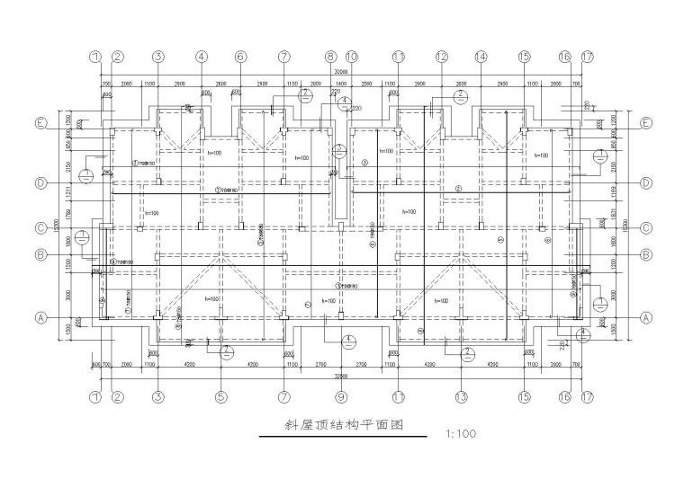 6层框架结构宿舍楼建筑结构施工图(2011)