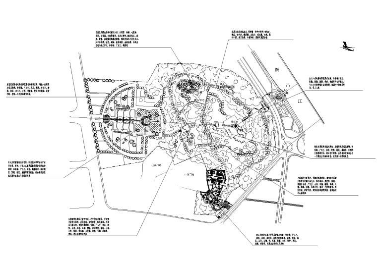 [福建]某公园景观设计方案CAD平面图