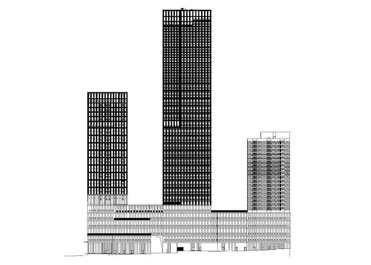 [重庆]现代风格知名商业广场建筑设计施工图(含效果图)