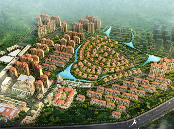 [湖南]欧式风格高档住宅小区规划设计方案文本(含高层、别墅和酒店)