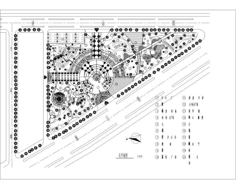 [深圳]兰溪谷郊野公园景观设计全套CAD施工图