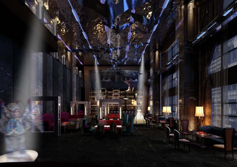 StevenLeach-北京红袖汇商务会馆KTV室内设计方案33P+效果图9P
