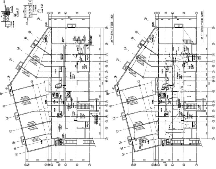 上海商业住宅及配套商业和托老所项目机电设备施工图