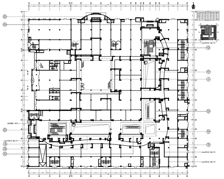 [甘肃]山丹世博购物广场室内装饰工程CAD施工图+效果图