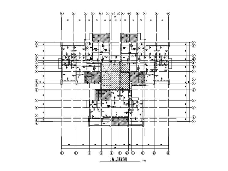 [四川]16层剪力墙结构住宅楼建筑结构施工图(2017)