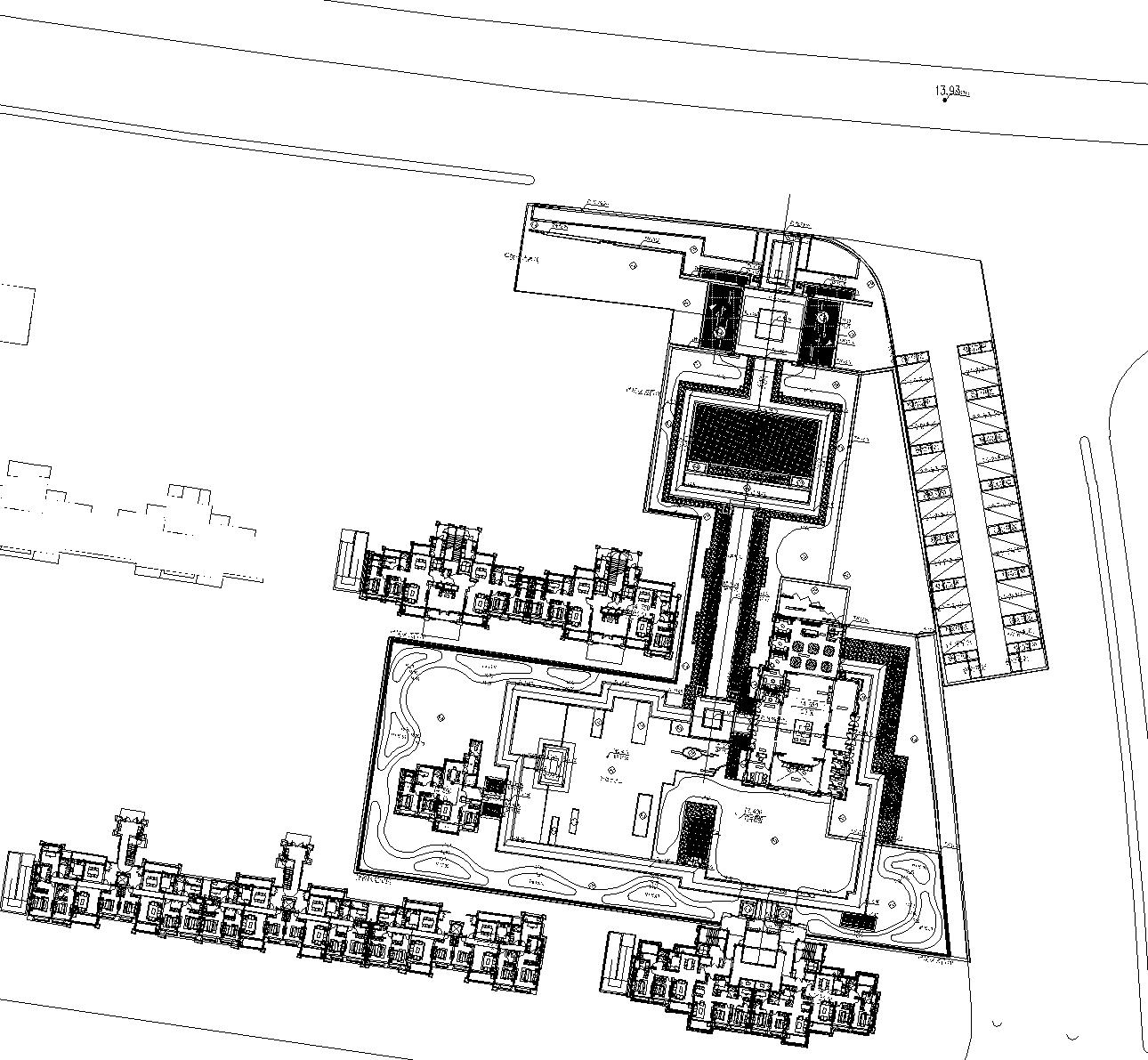 [江苏]南京旭辉高端品质新中式居住区CAD施工图(含:方案图,SU模型)