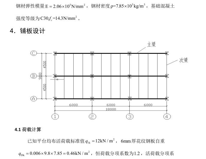 钢结构平台设计计算书