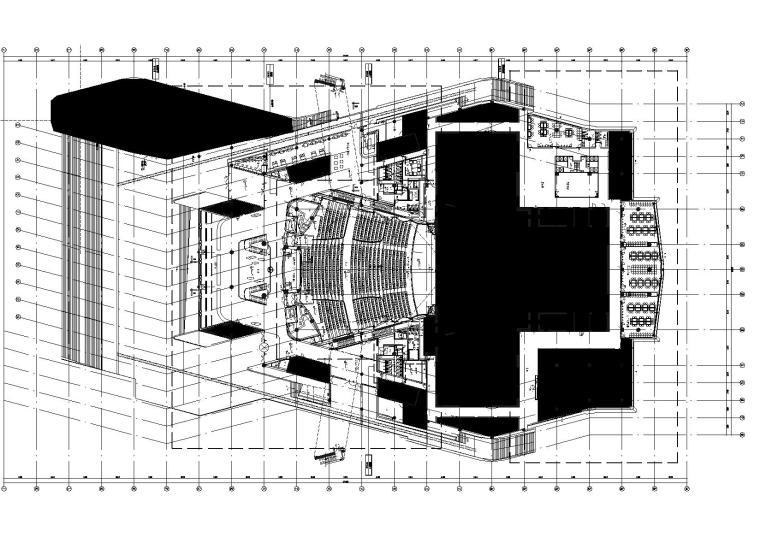[山东]现代设计院-青岛大剧院CAD施工图+PDF文件