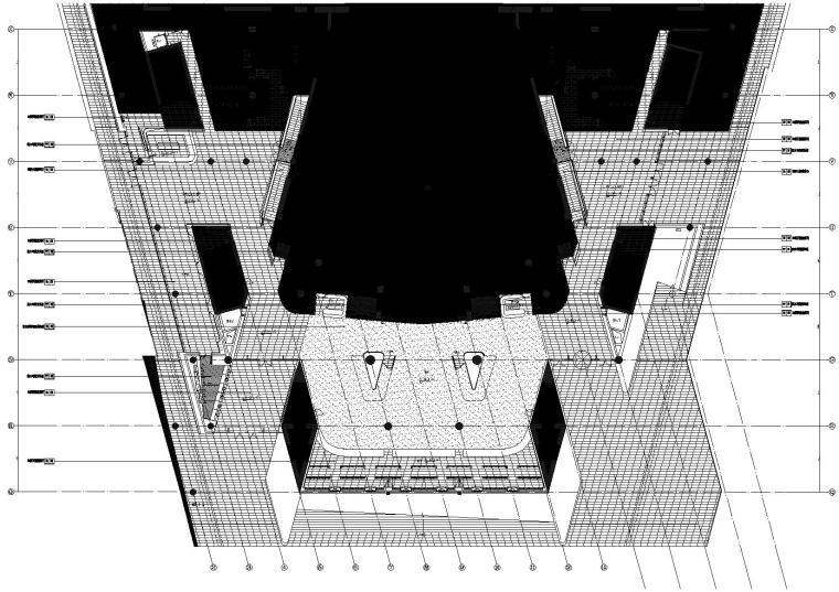1区(歌剧院)门厅4.500标高地坪图