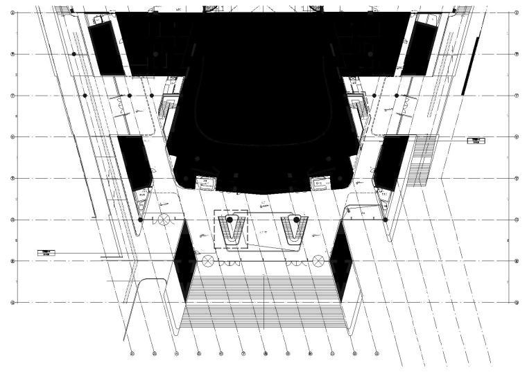 1区(歌剧院)门厅9.000标高平面图