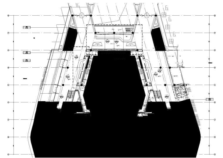 2区音乐厅前厅4.500标高平面图