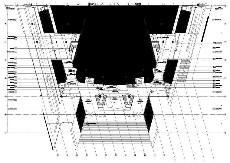 1区(歌剧院)门厅9.000标高墙面饰面示意图