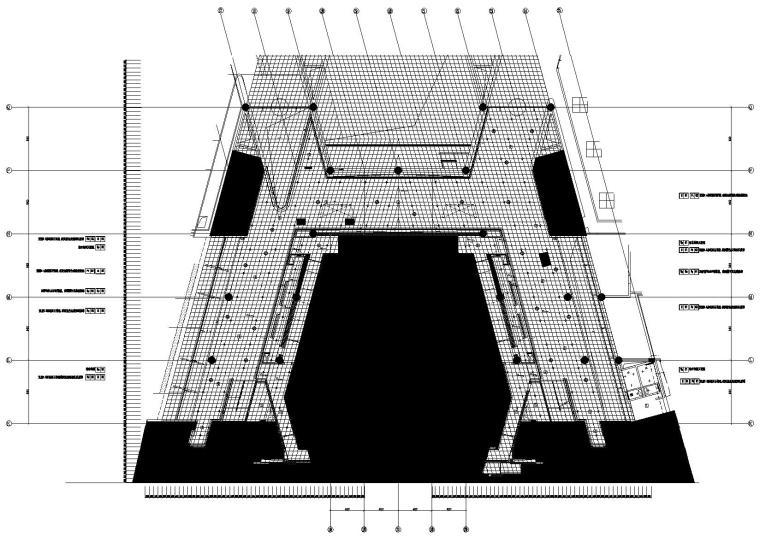 2区音乐厅前厅4.500标高平顶图