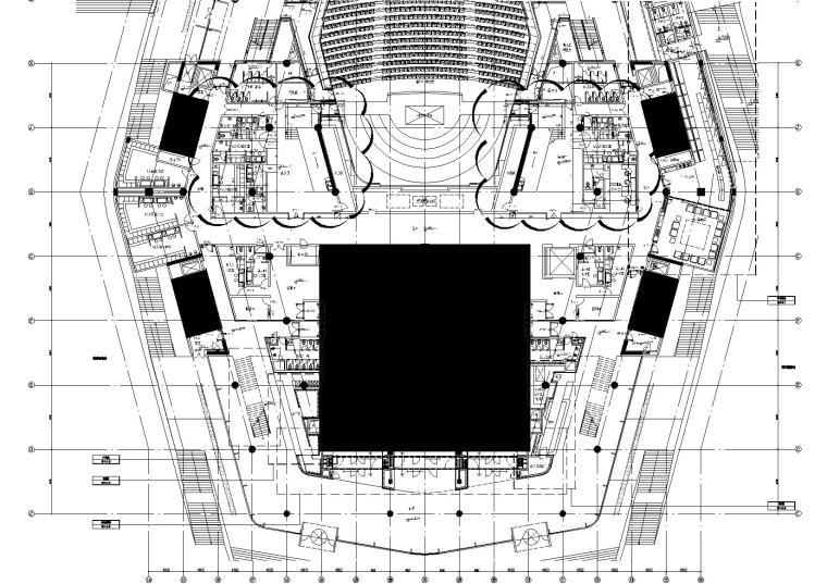 2区多功能厅前厅4.500标高平面图