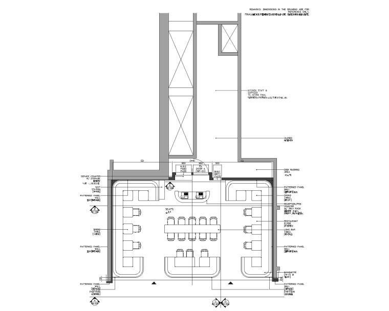 [上海]香港Dix -For Me芙蜜手工烘培港汇恒隆广场店室内装修施工图+效果图(附暖通图)