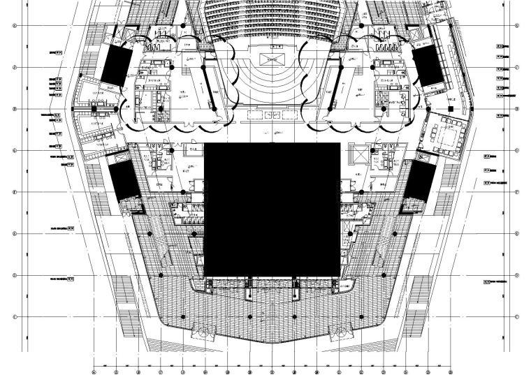 2区多功能厅前厅4.500标高地坪图