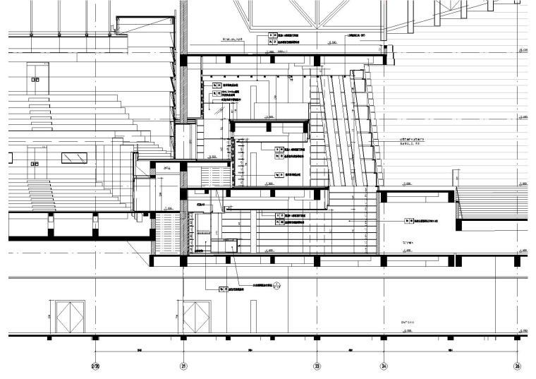2区(音乐厅)前厅A-A剖立面图