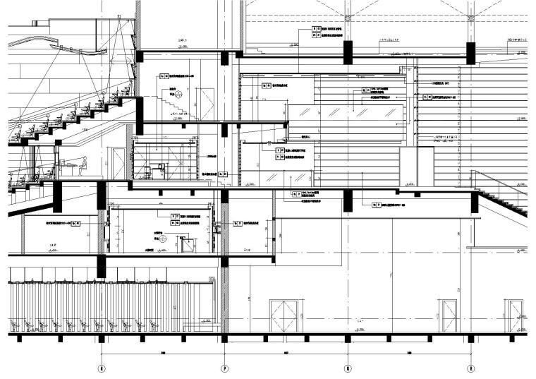 2区(音乐厅)前厅B-B剖立面图