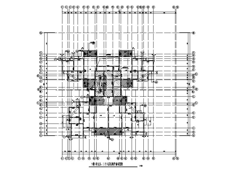 [四川]26层剪力墙结构住宅楼建筑结构施工图(2017)