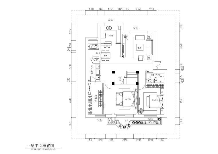 [香港]铭筑-香港罗静家挑层施工图CAD+效果图