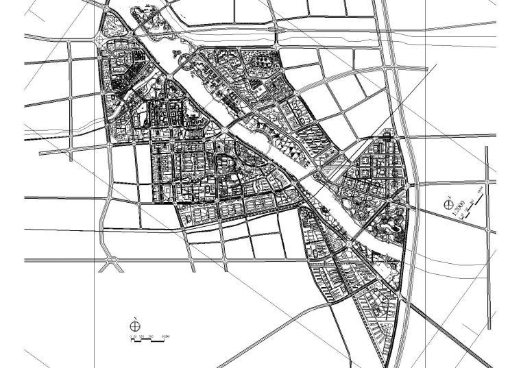 北京运河段景观设计和城市设计CAD图