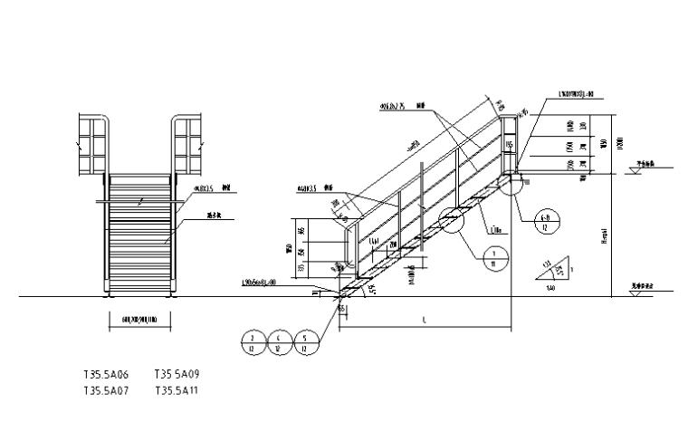 钢梯平台栏杆图
