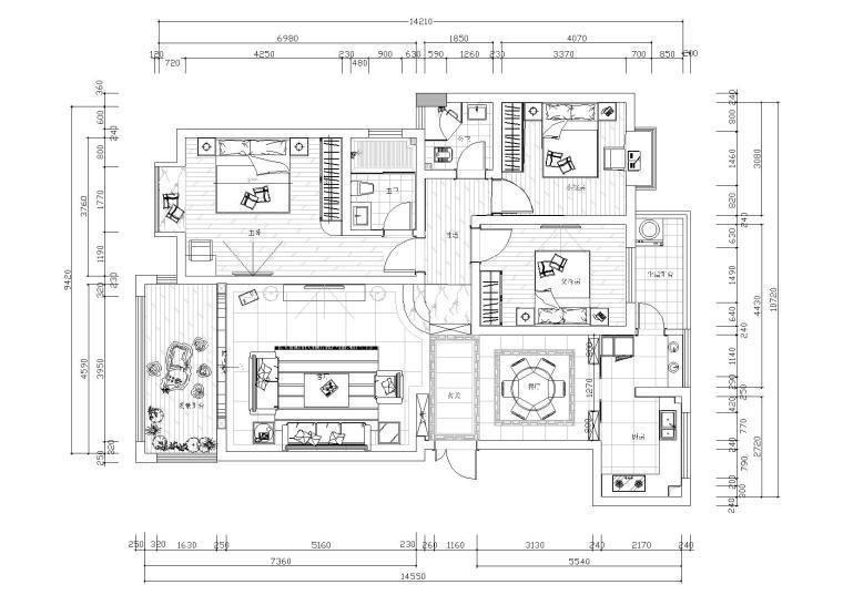 [四川]R设计-乐山锦绣星城样板间CAD全套施工图