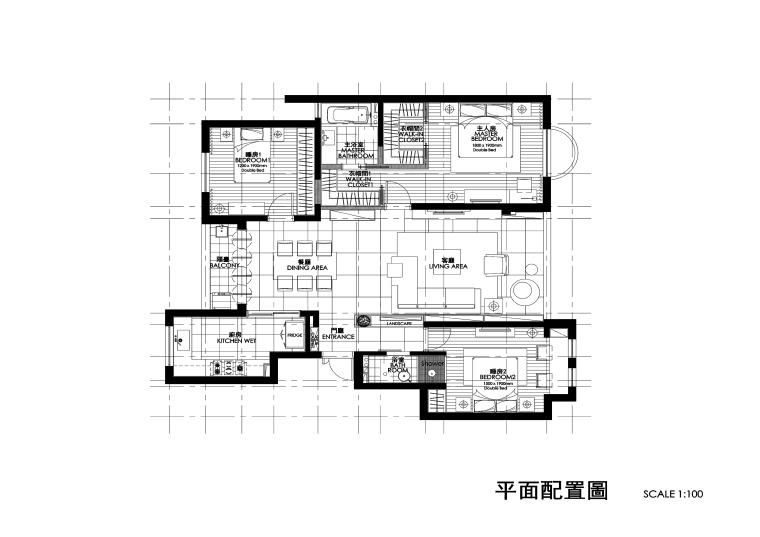 [福建]铭筑-厦门子轩样板间CAD施工图+效果图