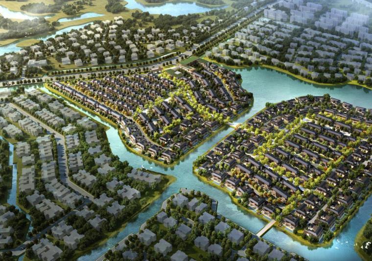 [上海]新中式风格低密度滨水豪宅建筑规划设计(HZS设计|PDF+149页)