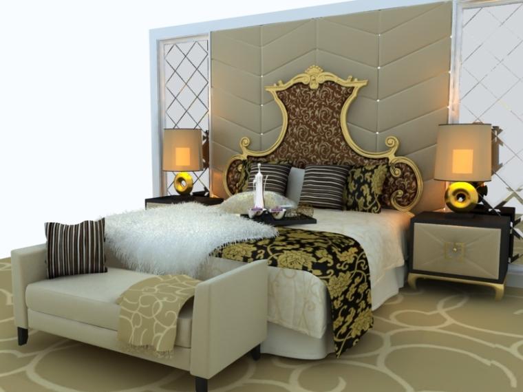 欧式贵族床资料下载-欧式贵族床3D模型下载