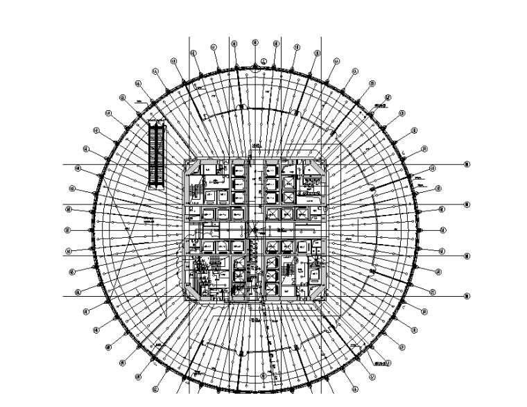 二十五层自动喷淋平面图