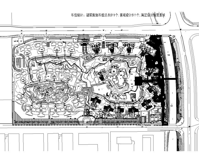 [广东]佛山绿岛湖住宅景观设计CAD平面图