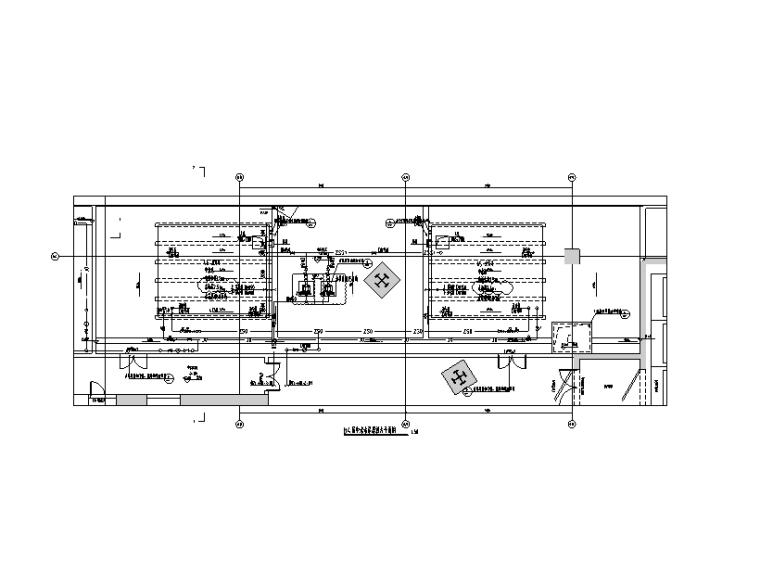 中水水泵房放大平面图