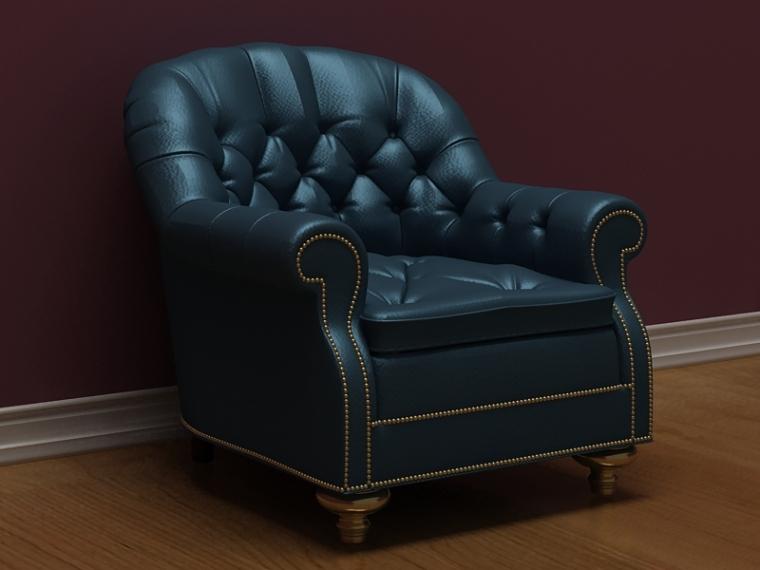 皮革沙发3D模型下载
