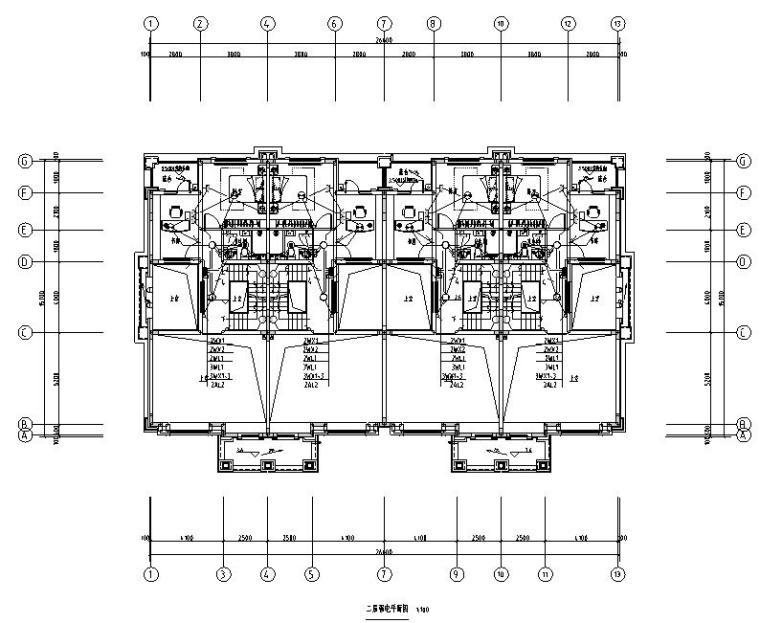 山东济南中海大型住宅社区及配套商业电气施工图