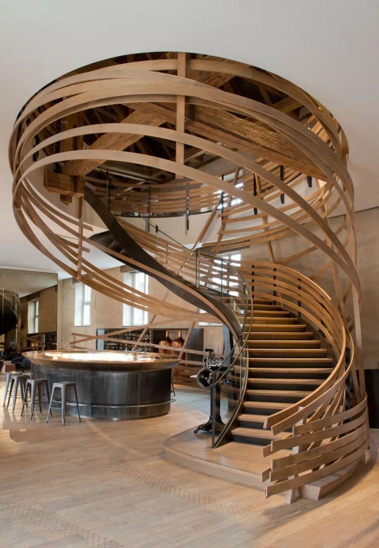 """有""""腔调""""的28个楼梯案例设计分享(文末33套室内施工图资料)_21"""