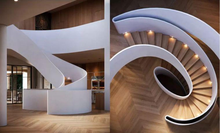 """有""""腔调""""的28个楼梯案例设计分享(文末33套室内施工图资料)_19"""