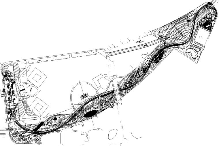 [上海]万科徐汇中心绿谷岩石园公园景观CAD施工图(附SU模型)