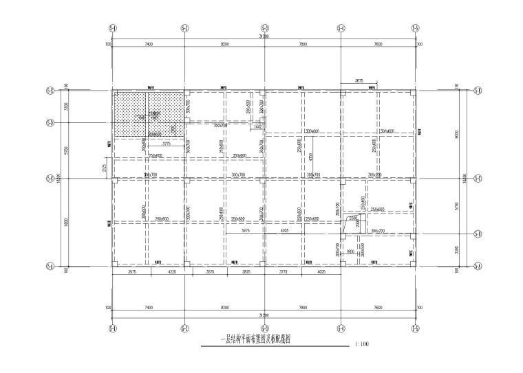 四川3层框架结构办公楼建筑结构施工图2017