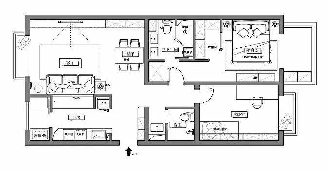 89㎡北欧风格装修,清新惬意的小资格调的家!