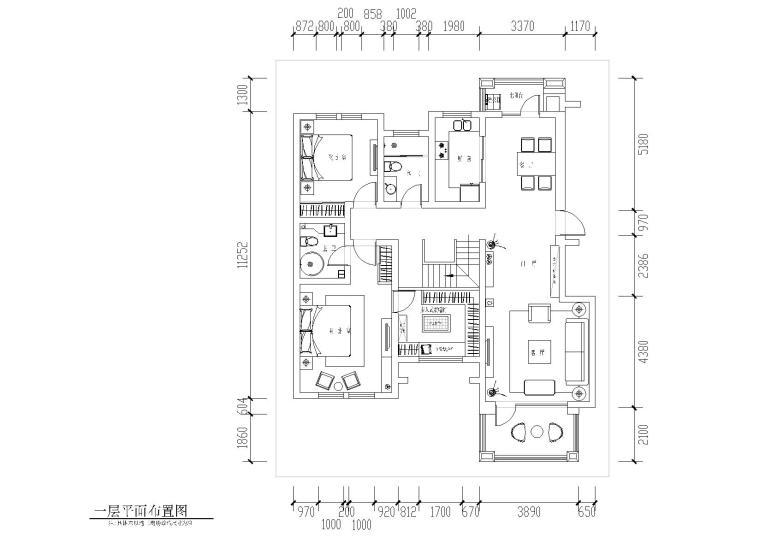 [山东]临沂谢恒煦住宅装饰CAD施工图+效果图