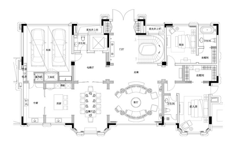 [重庆]HWCD-怡置北郡二期大独栋别墅效果图+设计方案PPT+施工图+水电图