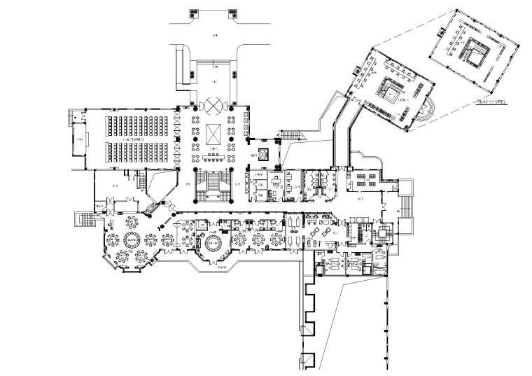 [浙江]高文安-杭州新湖香格里拉会所施工图+设计手绘+材料表