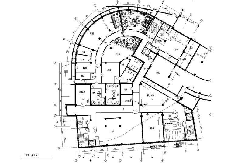 [北京]镜湖会所装饰设计CAD施工图+效果图